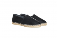 Leather-Espadrilles black