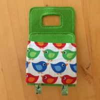 mobile-cradle green-bird