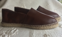 Leather-Espadrilles brown
