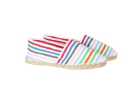 Espadrilles handmade candy-striped