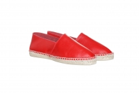 Leather-Espadrilles red